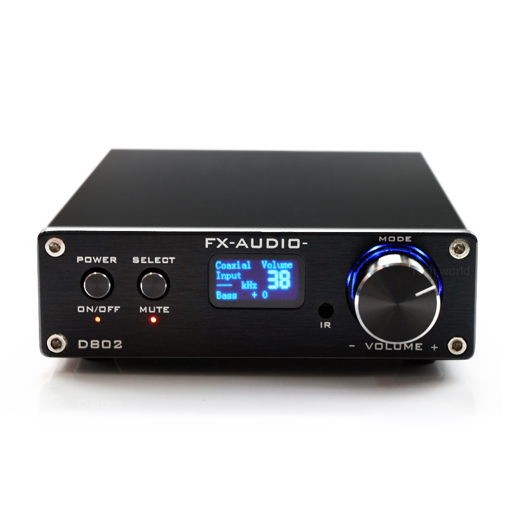 где купить Hot Sale FX-Audio D802 Professional family Pure Digital Audio Amplifier HIFI For Russia Free Shipping дешево