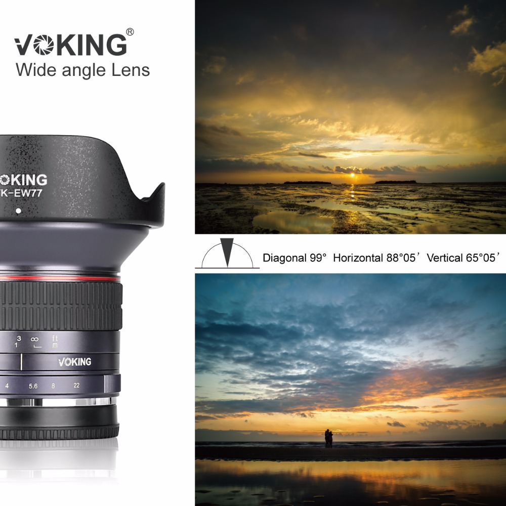 VOKING 12mm f/2.8 Ultra Wide Angle Fixed Lens with Removeable Hood for Canon EF-M mount cameras