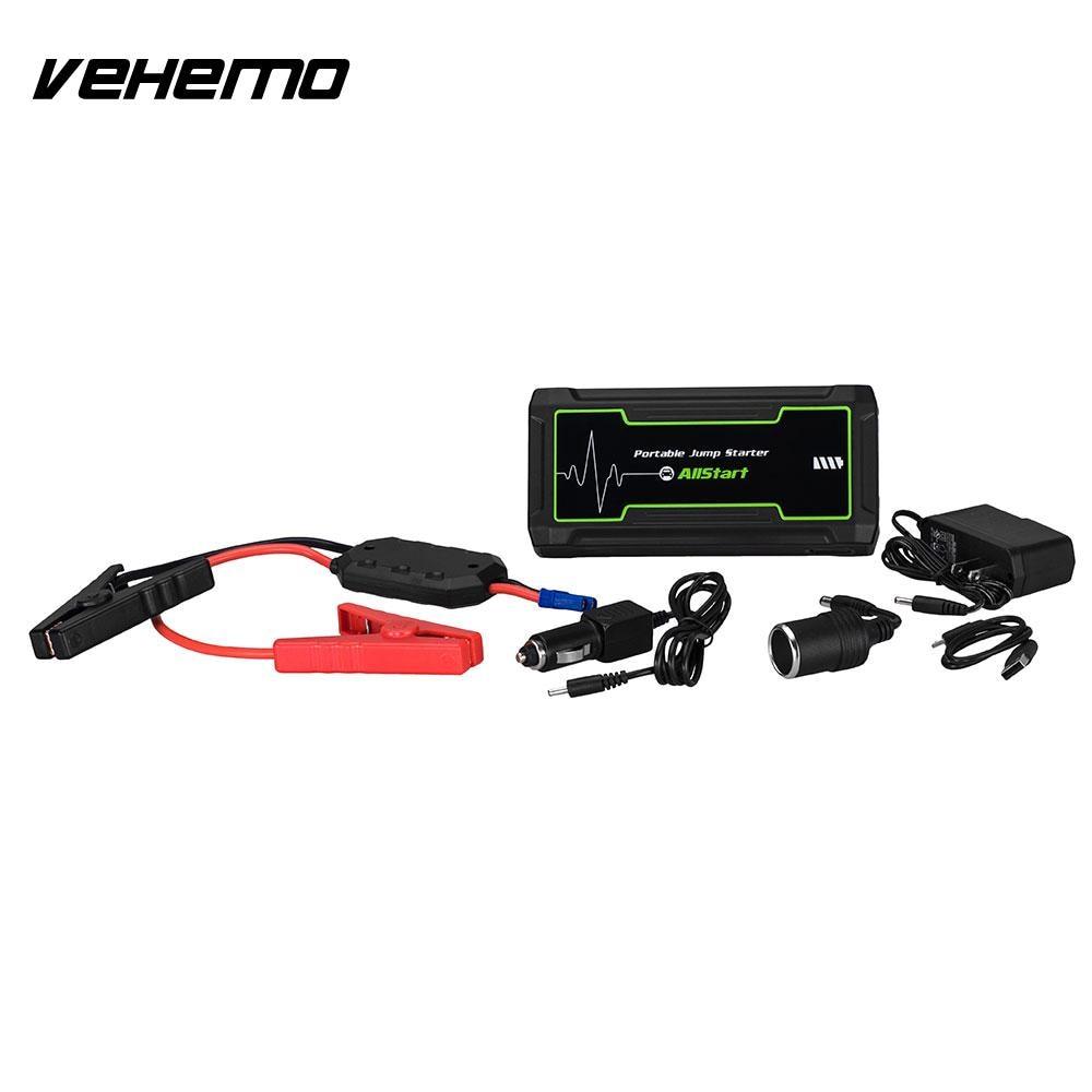 Vehemo noir 16800 mAh 800A pic saut batterie démarreur saut batterie chargeur d'urgence Portable - 4