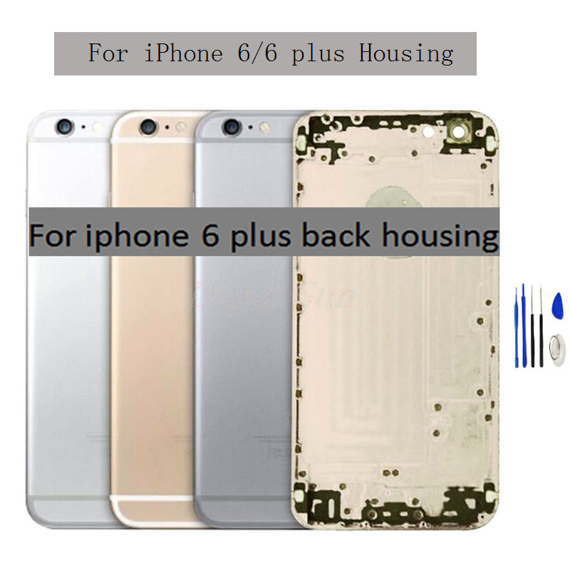 New For Iphone 6/6s/6 Plus/6s Plus Battery Cover Back Housing Rear Door Case Middle Chassis Frame With Side Buttons Assembly