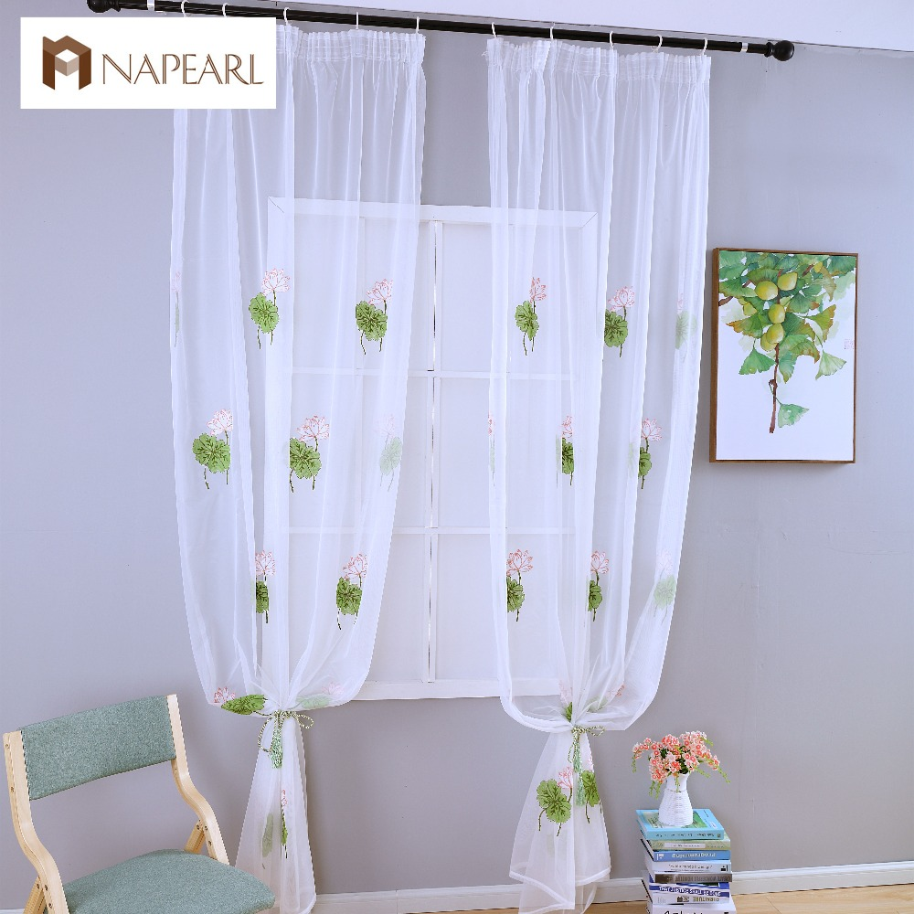 Blue bedroom window curtains - Summer Tulle Curtains White Modern Sheer Panel Living Room Window Treatments Short Curtain Kid Bedroom Green