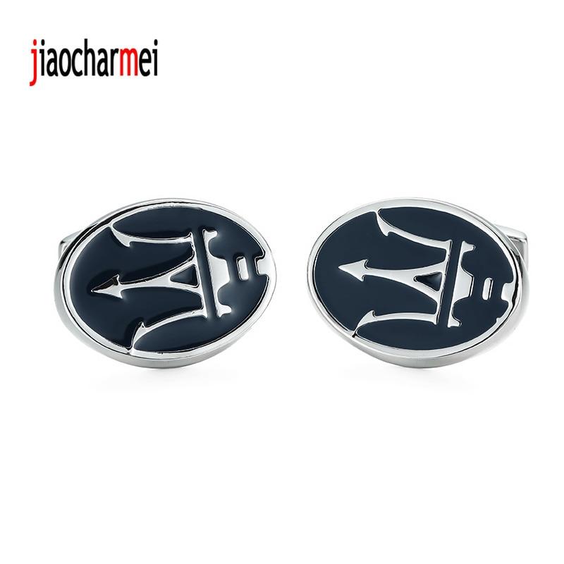 High quality Martha Lahti Cufflinks personalized design new fashion style blue car logo cufflinks, French shirt accessories