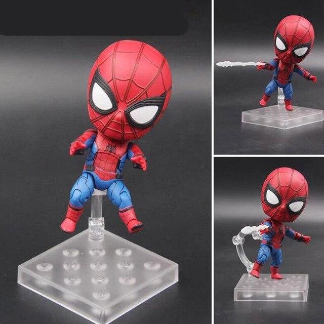 Ação anime figura 781 articulações Móveis bonito Nendoroid toy presente coleção modelo dos desenhos animados Do Homem Aranha com caixa Y7600