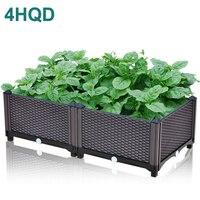 Brown planting box European family balcony vegetable pot large plastic flower pot one meter vegetable garden
