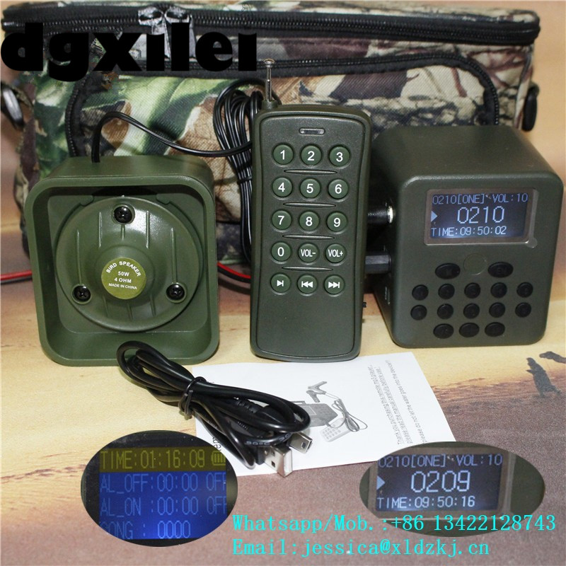 Wholesale Duck Call Mp3 Sounds Hunting Bird Caller Sound Song Machine For Outdoor Hunting Mp3 Bird Caller With 100~200M Remote 2 receivers 60 buzzers wireless restaurant buzzer caller table call calling button waiter pager system