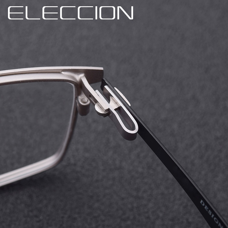 Prescription Glasses Titanium Alloy Optical Male 2018 Square Frame Myopia Eye Glasses For Men With Diopters Screwless Eyewear