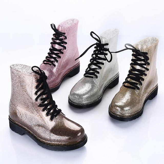 女性のレインブーツ透明防水カラフルな春秋の靴レインブーツ女性ヒョウ柄のアンクルブーツ大サイズ 40