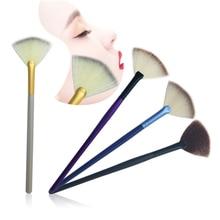 Slim Fan Shape Powder Makeup Brushes Concealer Blending Finishing Highlighter Highlighting Makeup Brush Nail Art Brush forMakeup