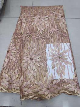 Latest Hot Sale African Laces Fabrics Embroidered High Quality French Lace Fabric Nigerian Net tulle Lace Fabric 7-19