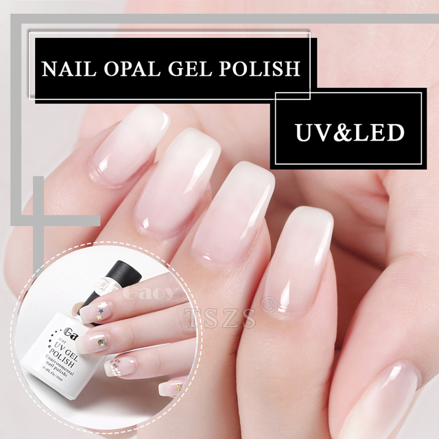 1pcs Lot High Quality Gaoy White Opal Uv Led Manicure Soak Off Gel Nail