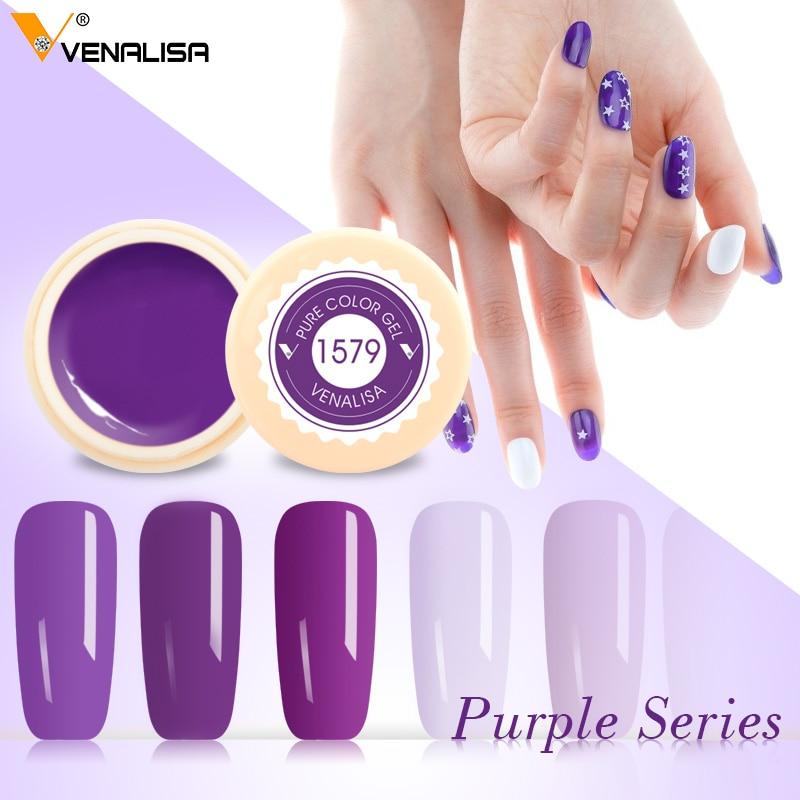 Venalisa 5 ml Reine Farbe Malerei Gel Nail art Maniküre Design Weg tränken UV LED DIY Nail art 180 Farben gel Zeichnung Lack