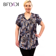BFDADI Hot Sale 2016 Summer New Arrival Female Short Sleeve Blouse Women Shirt Ruffle Tops 2