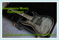Wholesale Retail Musical Instrument Grey Quilted Finish ESP LTD Electrica Guitar Chinese Kits With Hardcase