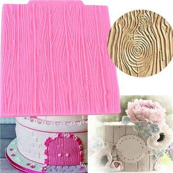 Moldes De silicona Para decoración De tartas, De 10,5x10cm, con forma De corteza De árbol, Para Fondant, pasta De azúcar, encaje