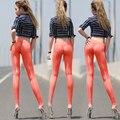 Leite transparente Sexy, seda perspectivity apertada close-fitting calças de comprimento no tornozelo viscose protetor solar de seda magro quadril fino