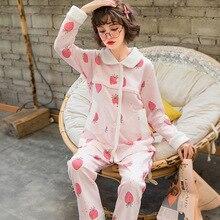 Пижамный комплект для беременных, хлопковый кардиган+ брюки, одежда для кормления, одежда для сна с отложным воротником, женская одежда для беременных, ночная рубашка