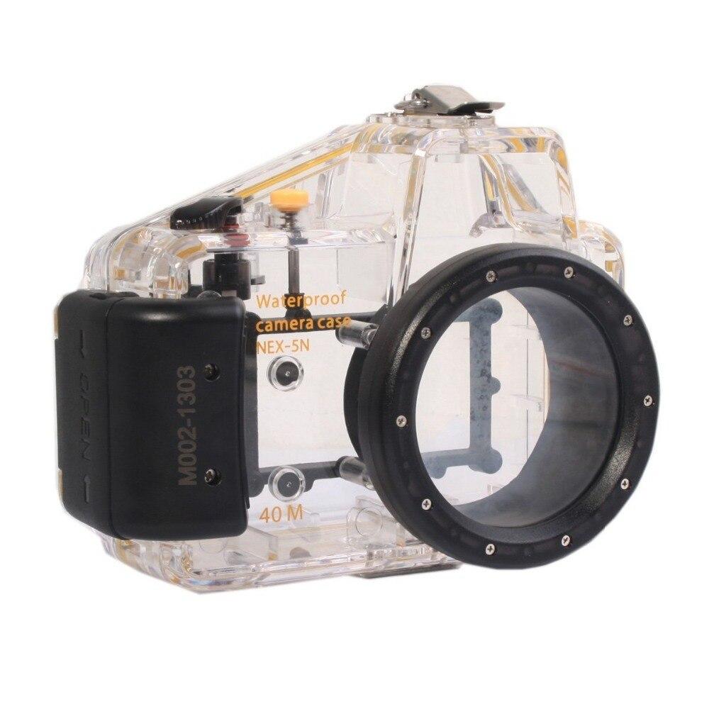 Mcoplus 40m 130ft Underwater Diving Waterproof Housing Bag Case for Sony NEX5N Nex-5N Camera 16mm Len waterproof underwater housing camera housing case for sony nex 3 nex 3 18 55mm lens