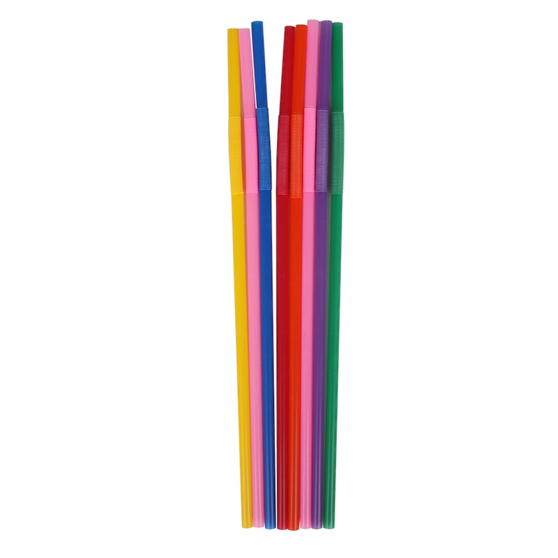 Valentine`s Day PP Plastic Straws Flexible Bendable Multicolor Food Grade Bar Party Drinking 100pcs Birthday Decor