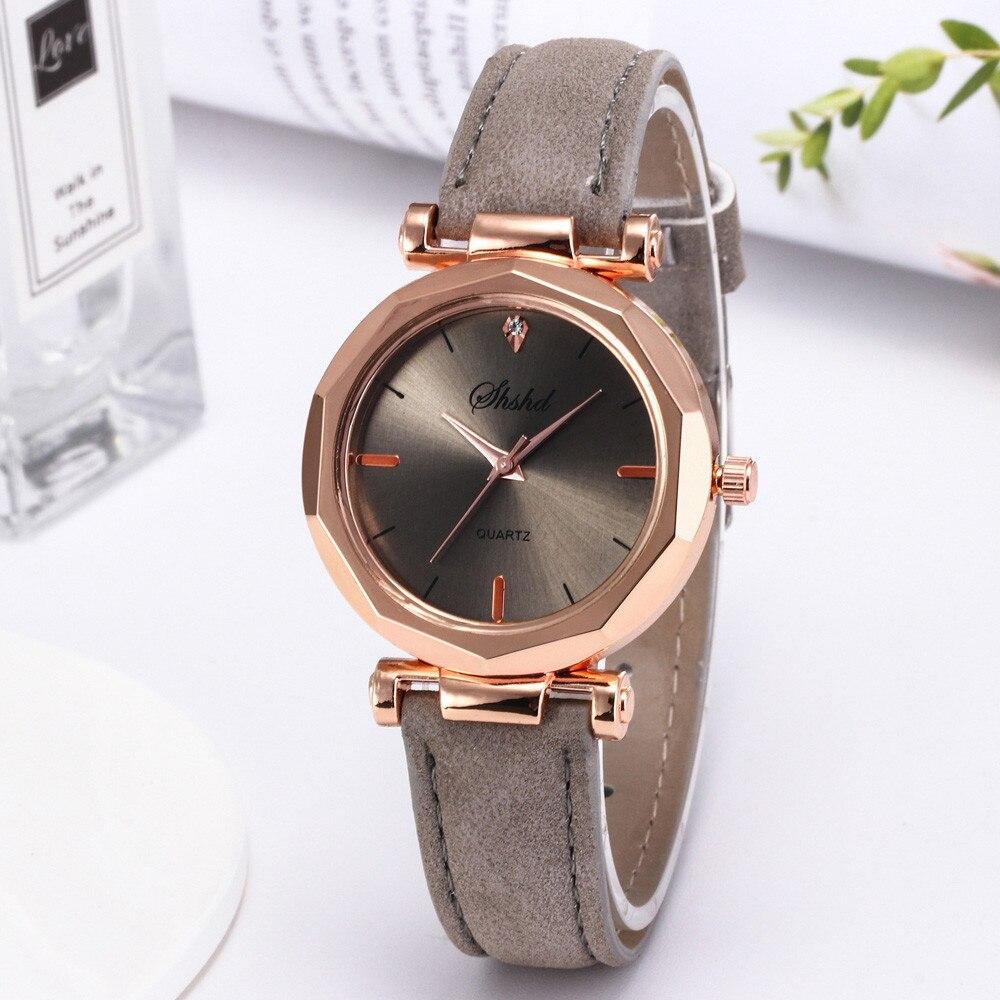 Fashion Women Leather Casual Watch Luxury Analog Quartz Crystal Wristwatch sky Magnet Buckle Casual Female Female Male Dress #A 3