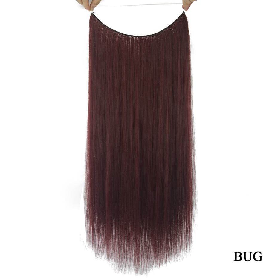 soowee 10 цвета длинные синтетические волосы рыба линия нимб невидимый прямой волос пепельно-серый шиньоны аксессуары интимные