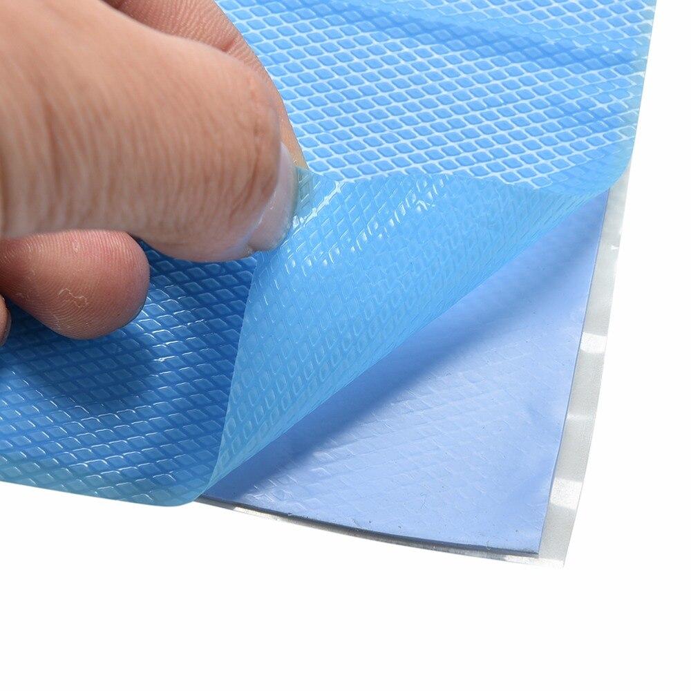 100x100x1mm blu gpu cpu dissipatore di calore conduttivo del silicone pad taglio & uncut del silicone pad termico zerbino 10 cm * 10 cm * 0.1 cm 1 pc100x100x1mm blu gpu cpu dissipatore di calore conduttivo del silicone pad taglio & uncut del silicone pad termico zerbino 10 cm * 10 cm * 0.1 cm 1 pc
