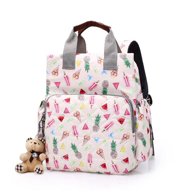 New Fashion Mummy Maternity Diaper Bags Baby Care Nappy Bag Backpack Waterproof Large Bag For Stroller BFR004