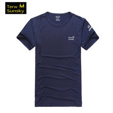 Free Shipping–HOT SALE Terwsunsky News HQ Men's Outdoor Quick-drying Short-sleeve Running Gym Sport T-shirt T001