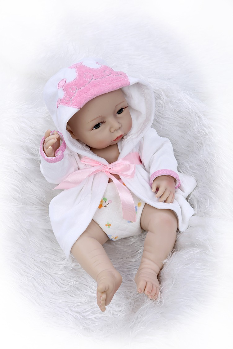 Full Body Silicone Reborn Baby Dolls Toys Lifelike 40cm Newborn Girl Babies Doll Toys Girls Brinquedos Bathe Shower Toy fitbit blaze band large metal frame housing