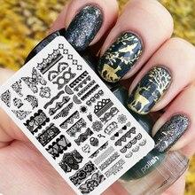 Xyk-1 шт Дизайн ногтей Стампер пластины DIY Пластик ногтей гель Инструмент принтер для ногтей Передача цветы украшение декоратор