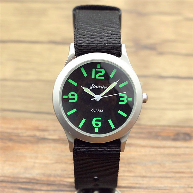 new fashion Middle and little children army watch boys and girls cute Luminous p
