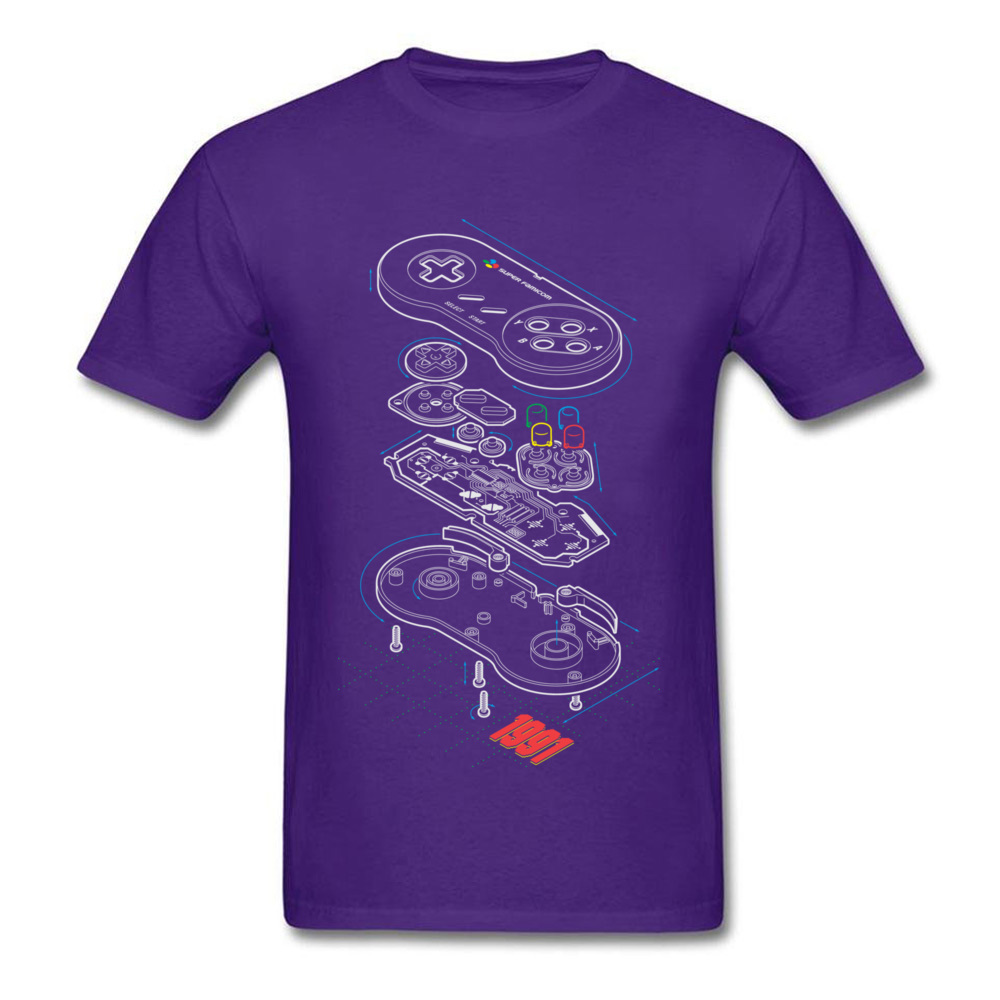 BP 91 Round Neck T Shirts Fall T Shirt Short Sleeve 2018 Discount 100% Cotton Fabric comfortable Tee Shirts Crazy Men BP 91 purple