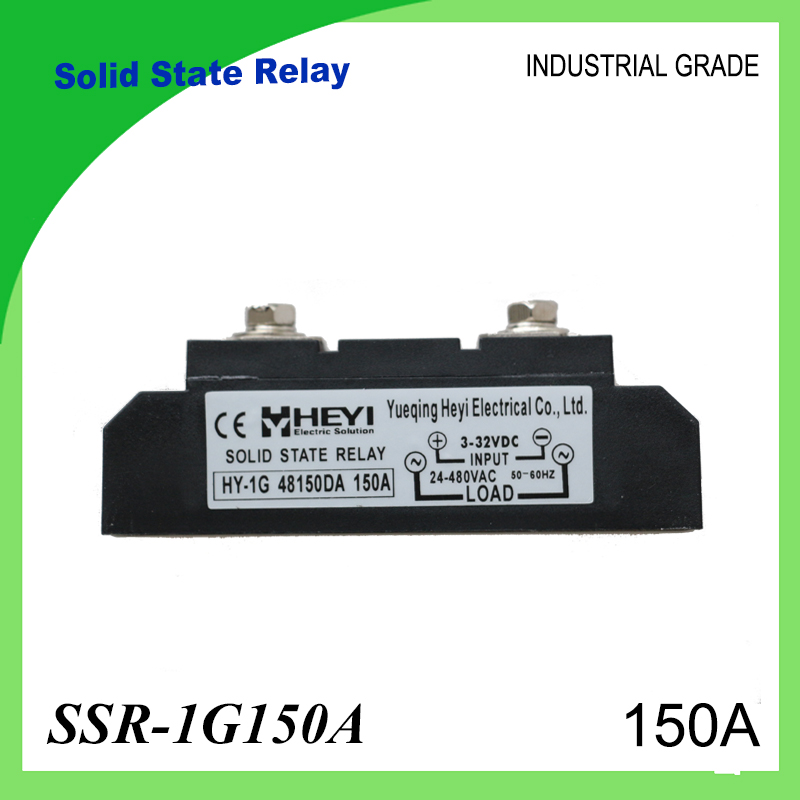 SSR-150A Solid State Relay 150A Industrial 24-480VAC 3-32VDC(D3) 70-280VAC(A2) for PID Temperature Controller SSR Module solid state relay ssr 120da clear cover for temperature contoller