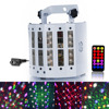 24W RGBW LED Stage Light DMX 512 Voice Activated DJ Projector Remote Control
