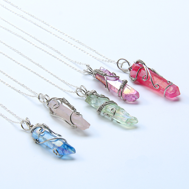Natural crystal irregular pendant quartz gem stone pendulum druzy natural crystal irregular pendant quartz gem stone pendulum druzy charm reiki healing crystal pendant necklace women mozeypictures Image collections
