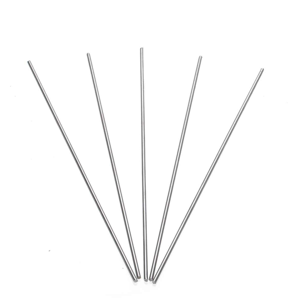 5pcs Grade 5 GR5 Titanium Ti Rods Stick Bar Shaft 3mm Diameter 25cm Length For Industries Tools