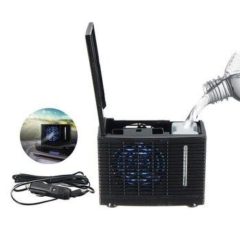 35 w 12 v 3a 휴대용 미니 에어컨 abs 물 증발 에어컨 설치 자동차 코드 또는 ac 어댑터에 의해 운영