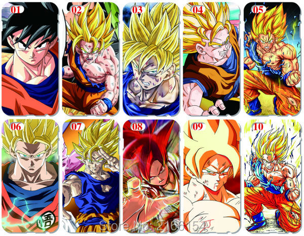 Dragon Ball Гоку крышка для Iphone 5 5S SE 5C 6 6 S 7 Plus Touch 5, 6 для Samsung Galaxy s3 S4 <font><b>S5</b></font> Mini S6 S7 Edge Примечание 3 4 5 Чехол