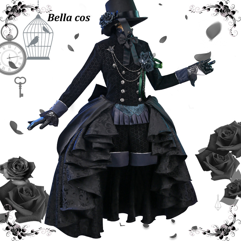 013b7d21b New Black Butler Ciel Phantomhive cosplay costume Black rose dress uniform  halloween costumes Anime clothes outfits Accessories