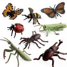 Моделирование ПВХ насекомое Жук фигурка животного модель обучающая детская игрушка для ролевых игр раннего образования Когнитивная игра пластик