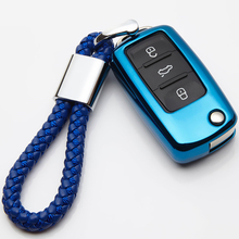KUKAKEY Car Key Cover Case for VW Volkswagen Golf 4 5 6 Bora Jetta POLO Passat B5 B6 Skoda Superb Octavia Fabia SEAT Ibiza Leon