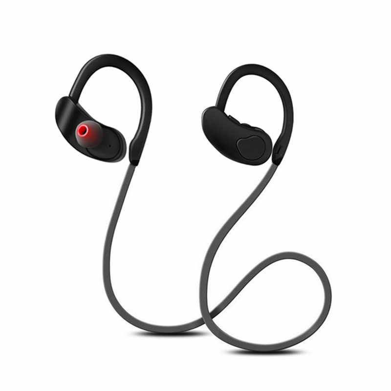Bluetooth Earphone Wireless Headphone Stereo Headset Olahraga Earpiece Bluetooth Earbud HIFI Bass Hands-Free dengan MIC untuk IOS