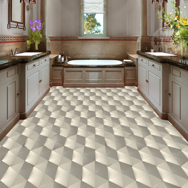 Free Shipping Modern 3D geometric abstract pattern floor wallpaper bedroom kitchen decoration non-slip self-adhesive floor mural free shipping marble texture parquet flooring 3d floor home decoration self adhesive mural baby room bedroom wallpaper mural