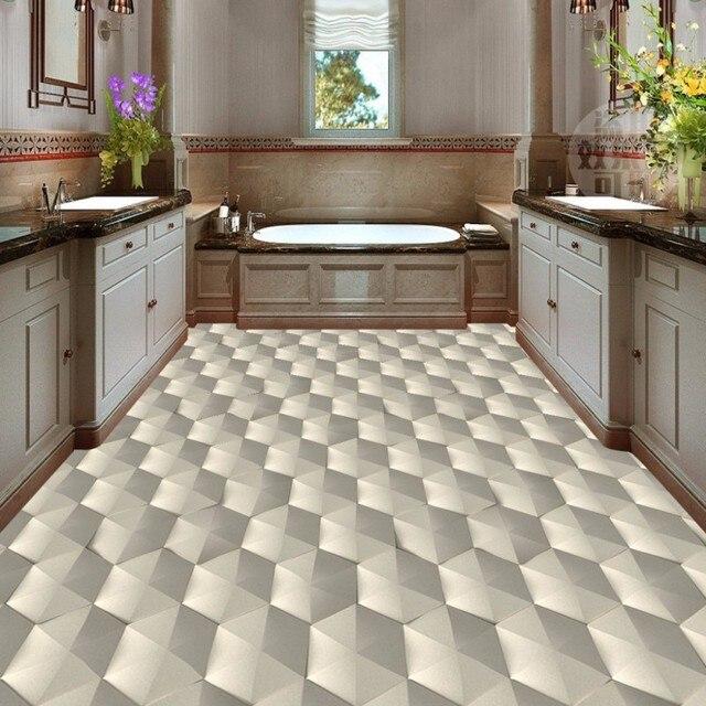 freies verschiffen moderne 3d geometrischen abstrakten muster boden tapete schlafzimmer k che. Black Bedroom Furniture Sets. Home Design Ideas