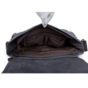 Image 5 - Waterproof Batik Canvas+Leather Camera Bag with Photo Pouch Vintage DSLR Case Casual Shoulder Messenger Photography Bag