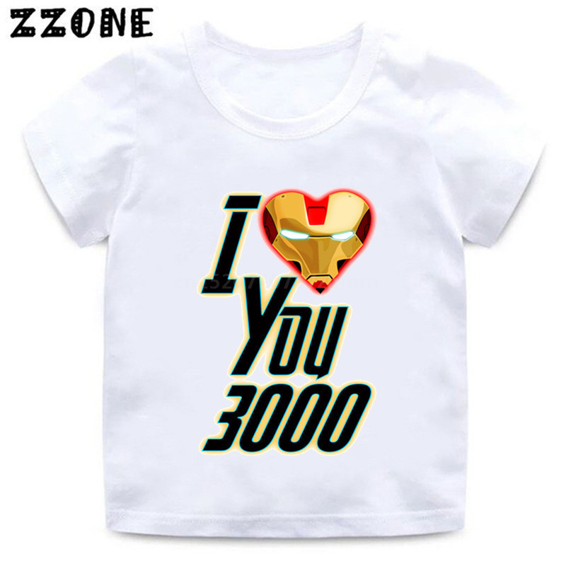 Dad I Love you 3000  Kids Funny T-Shirt Avengers Style