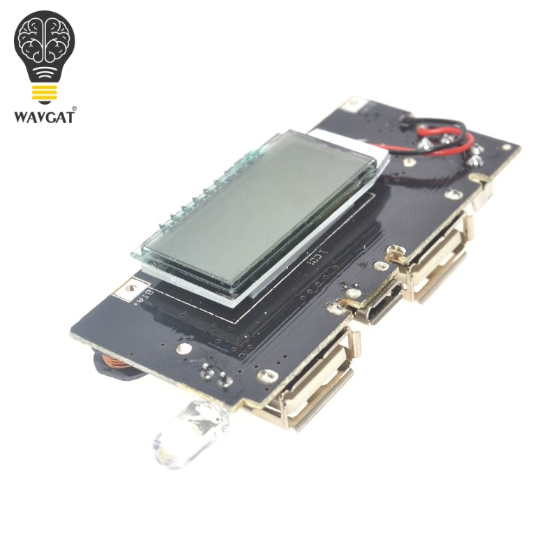 Dual USB 5V 1A 2.1A Mobile Power Bank 18650 Battery Charger PCB Power Module Accessories For Phone DIY New LED LCD Module Board galaxy s7 edge geekbench