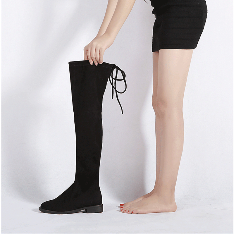 11 11 promotion stretch suede the knee boots