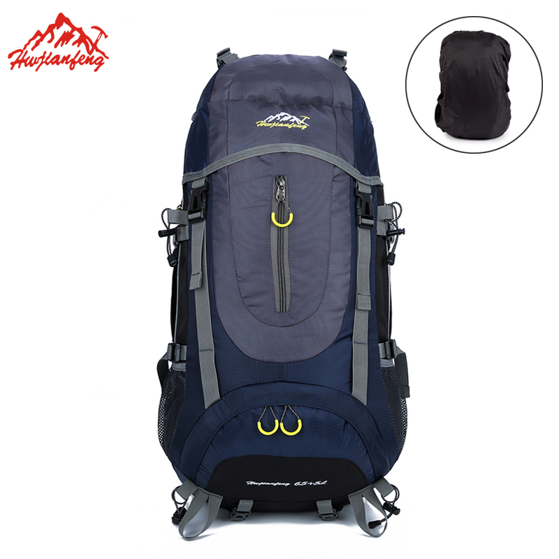 70L Professional Mountaineering Backpack For Women Men s Hiking Backpack Nylon Climbing Sports Bag With Rain