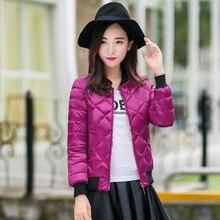 2017 New Autumn Winter women Parkas basic jacket women s coat clothes bomber ladies zipper