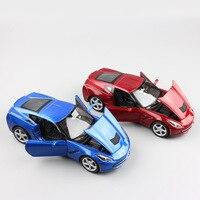 1 24 Scale Children 2014 Stingray Coupe C7 Metal Diecast Model Tank Miniature Racing Auto Cars